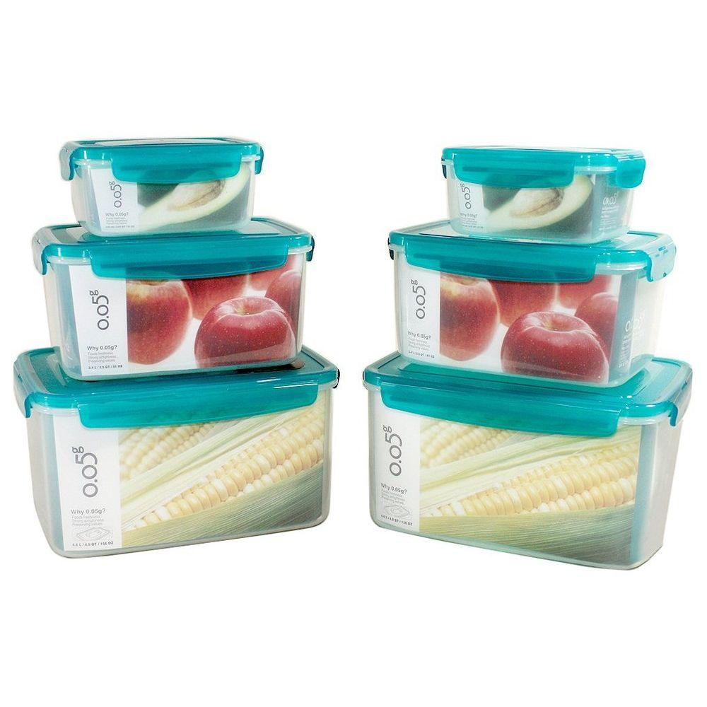 Lock and Lock 12pc Food Storage Container Green Lids-DISCONTINUED