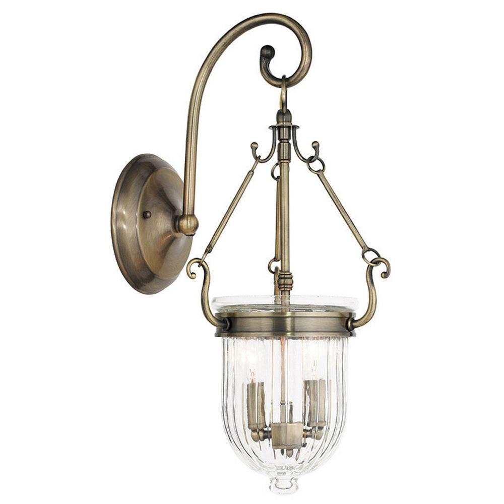 Coventry 2-Light Antique Brass Wall Sconce