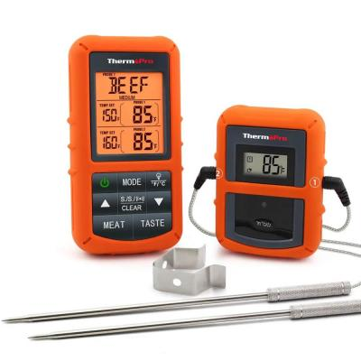 Wireless Remote Digital Cooking Food Meat Thermometer with Dual Probe for Smoker Grill Oven BBQ
