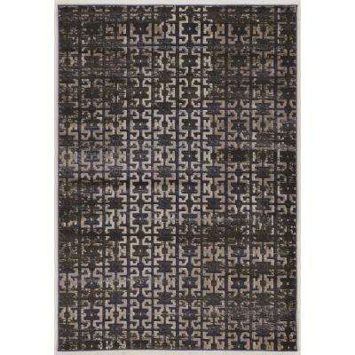 Jewell Collection Vintage Maze Blue 5 Ft. X 8 Ft. Rectangle Area Rug