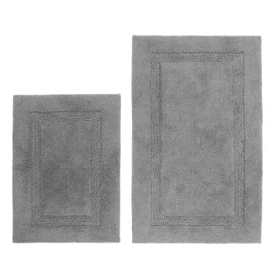 17 in. x 24 in. and Grey 21 in. x 34 in. Peniston Bath Rug Set (2-Piece)