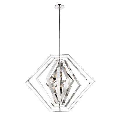 Downtown Collection 6-Light Chrome Chandelier with Chrome Shade