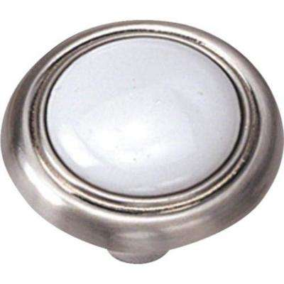 Family First 1-1/4 in. Satin Nickel Cabinet Knob