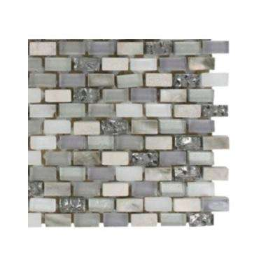 Paradox Puzzle Mixed Materials Floor and Wall Tile - 6 in. x 6 in. Tile Sample