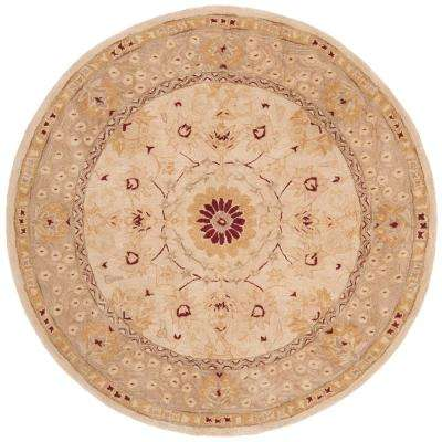 Anatolia Sand/Walnut 8 ft. x 8 ft. Round Area Rug