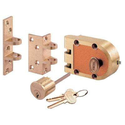 666/667 Segal Single Cylinder Bronze Flat/Angle Strike Brass Box Deadlock