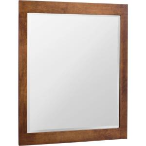 Glacier Bay Casual 28 inch x 36 inch Framed Vanity Mirror in Cognac by Glacier Bay