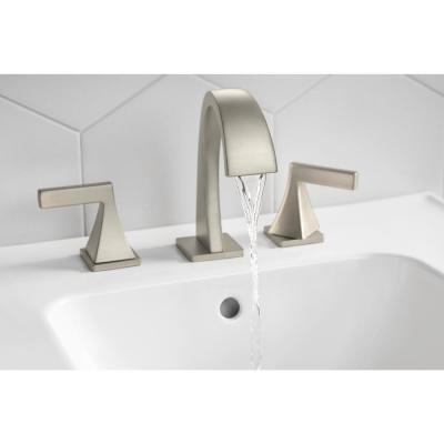 Katun 8 in. Widespread 2-Handle Bathroom Faucet in Vibrant Brushed Nickel