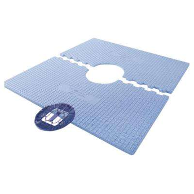 48 in. x 48 in. Tile Ready Pre-Sloped Shower Tray with Center Drain