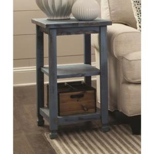 Alaterre Furniture Country Cottage Blue Antique 2 Shelf End Table by Alaterre Furniture
