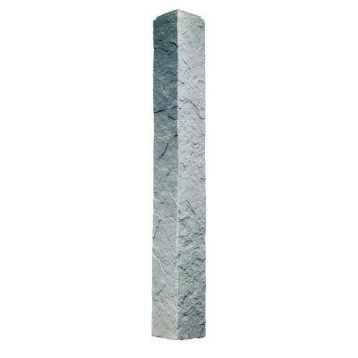 Sandstone Graphite 5.5 in. x 48 in. Faux Polyurethane Stone Outside Corner (2-Pack)