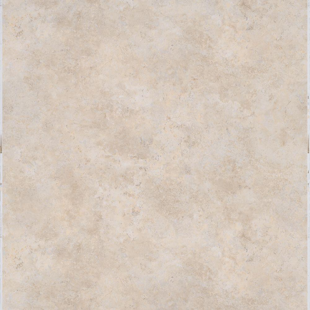 TrafficMASTER Travertine 12 in. x 12 in. Peel and Stick Vinyl Tile ...