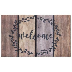 Apache Mills Welcome Wreath 18 inch x 30 inch Door Mat by Apache Mills