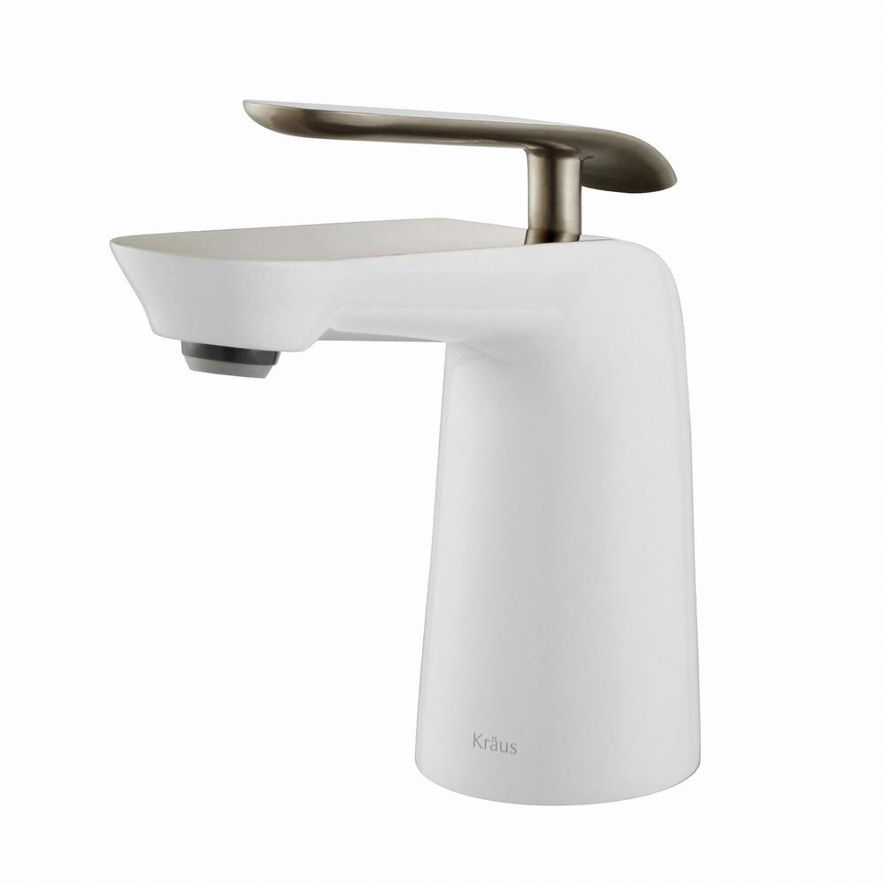 KRAUS Seda Single Hole Single-Handle Basin Bathroom Faucet in ...