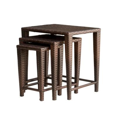Jacob Brown Rectangular Wicker Outdoor Accent Table