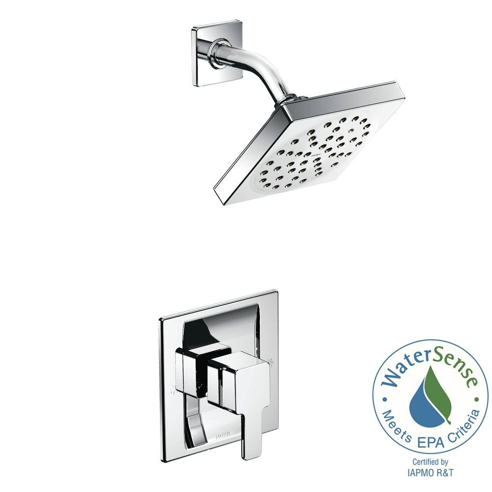 90-Degree Eco-Performance Single-Handle 1-Spray Shower Faucet Trim Kit in Chrome