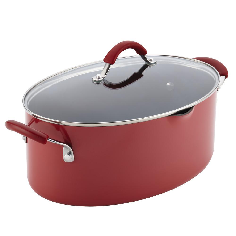 Rachael Ray Cucina 8 Qt. Aluminum Stock Pot with Lid 16343