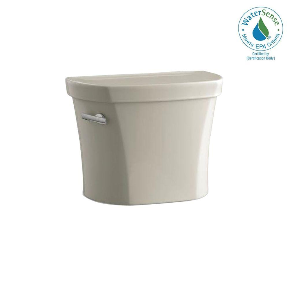 KOHLER Wellworth 1.28 GPF Toilet Tank Only in Sandbar-DISCONTINUED