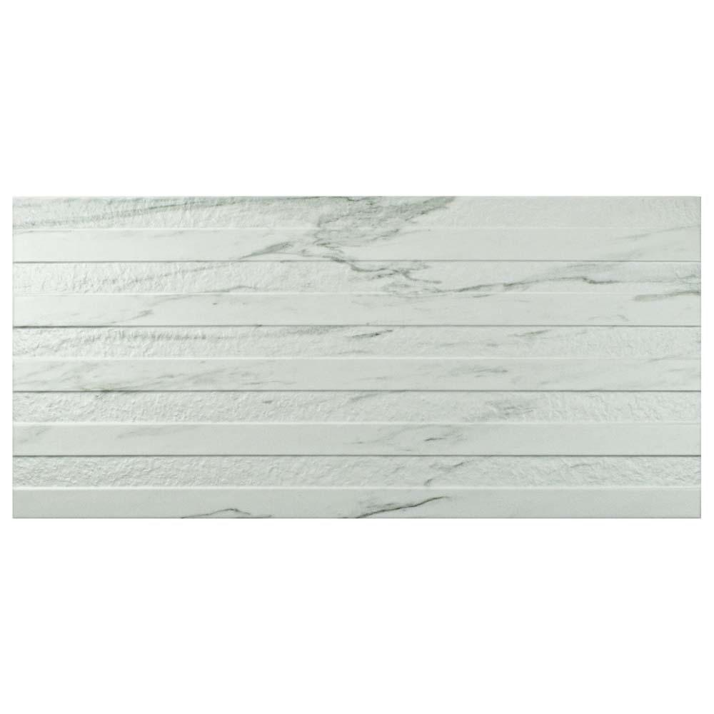 Eterno Carrara Line 12-7/8 in. x 25-5/8 in. Porcelain Wall Tile