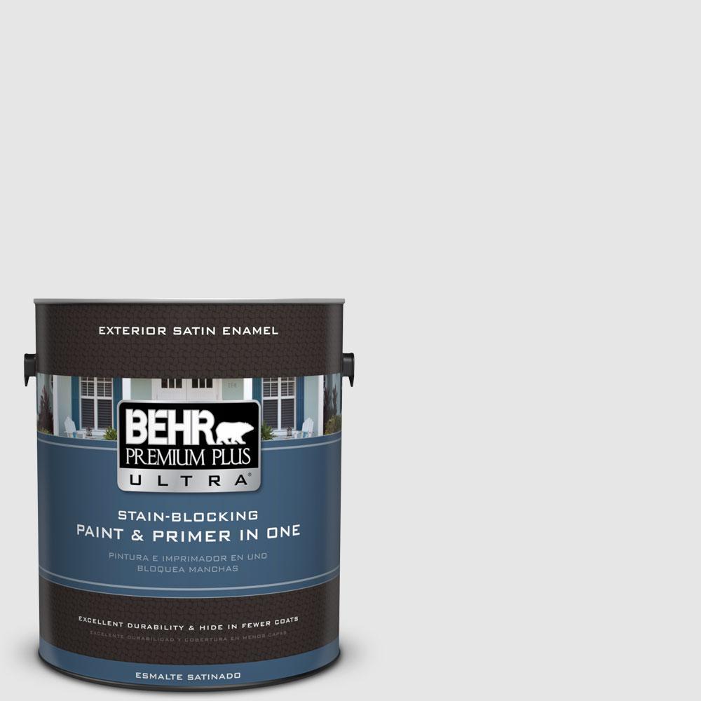BEHR Premium Plus Ultra 1-gal. #PR-W9 Nimbus Cloud Satin Enamel Exterior Paint