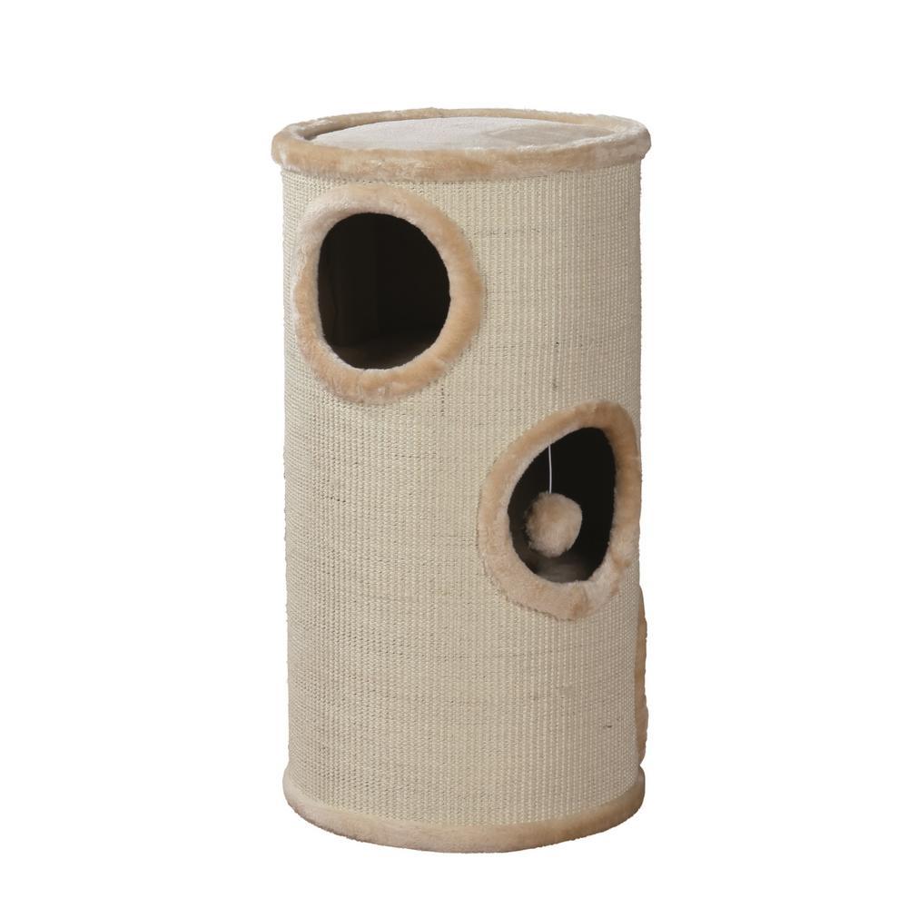 Beige Samuel 3-Story Cat Tower