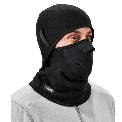 N-Ferno Black 2-Piece Fleece/Neoprene Balaclava