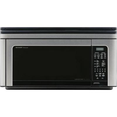 Sharp 1 5 Cu Ft Over The Counter Microwave In Stainless Steel With Sensor Cooking Technology R1214ty The Home Depot