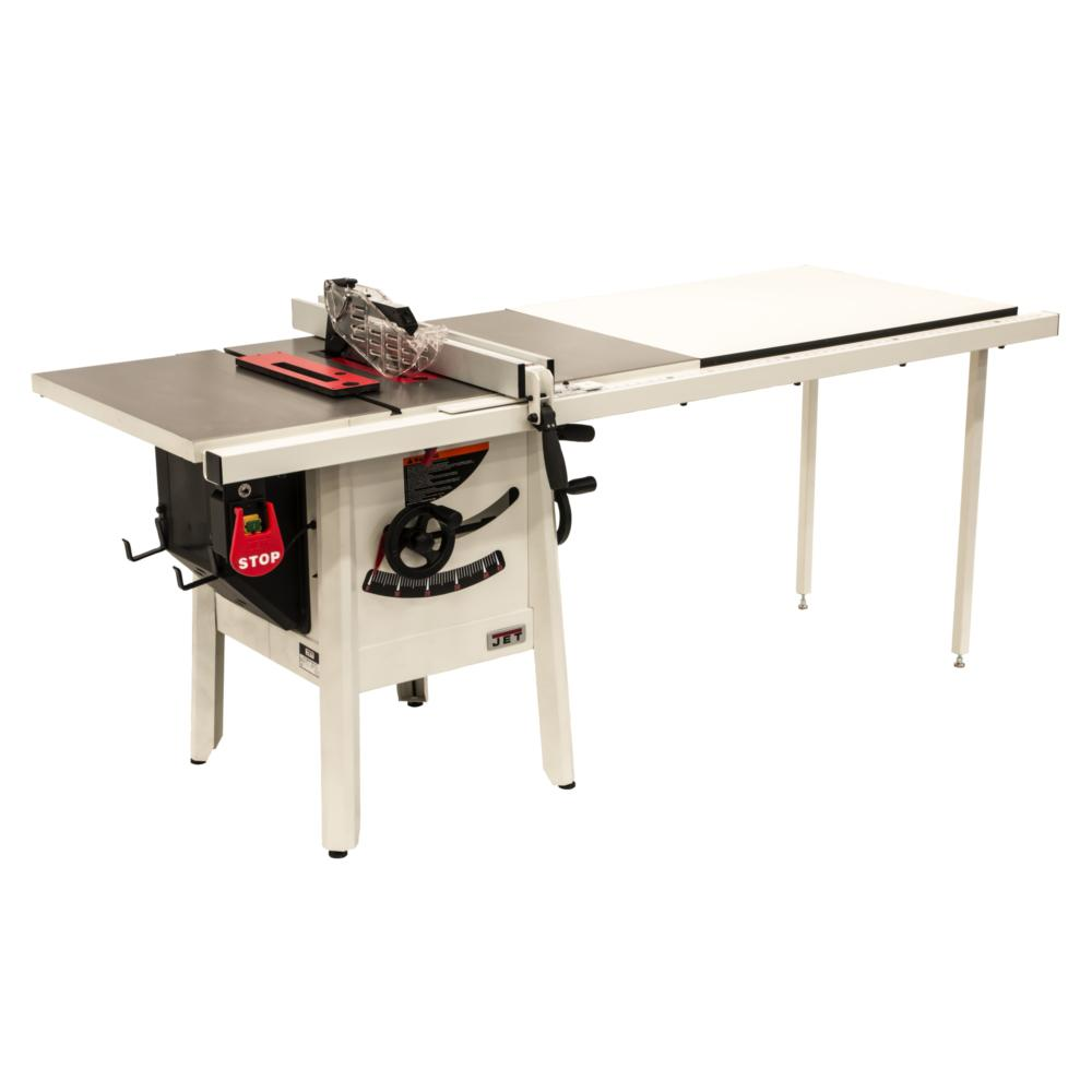 Jet ProShop II 10 in. table saw with 52 in. Rip Cast Wings JPS-10