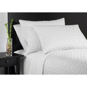 Caro Home 100% Rayon from Bamboo White Queen Coverlet Set by Caro Home
