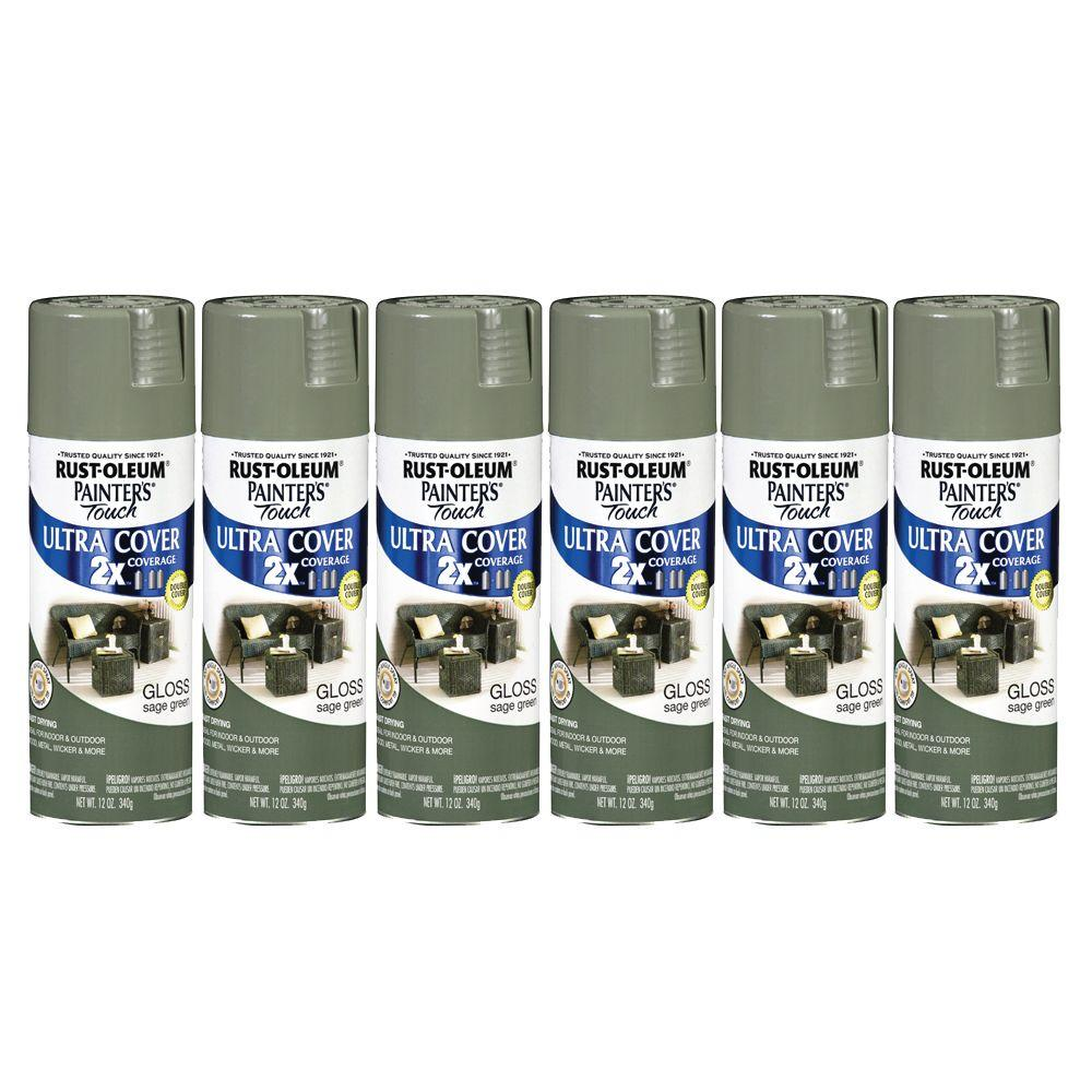Painter's Touch 12 oz. Gloss Sage Green Spray Paint (6-Pack)-DISCONTINUED