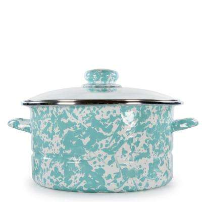 Sea Glass 6 qt. Enamelware Stock Pot with Lid