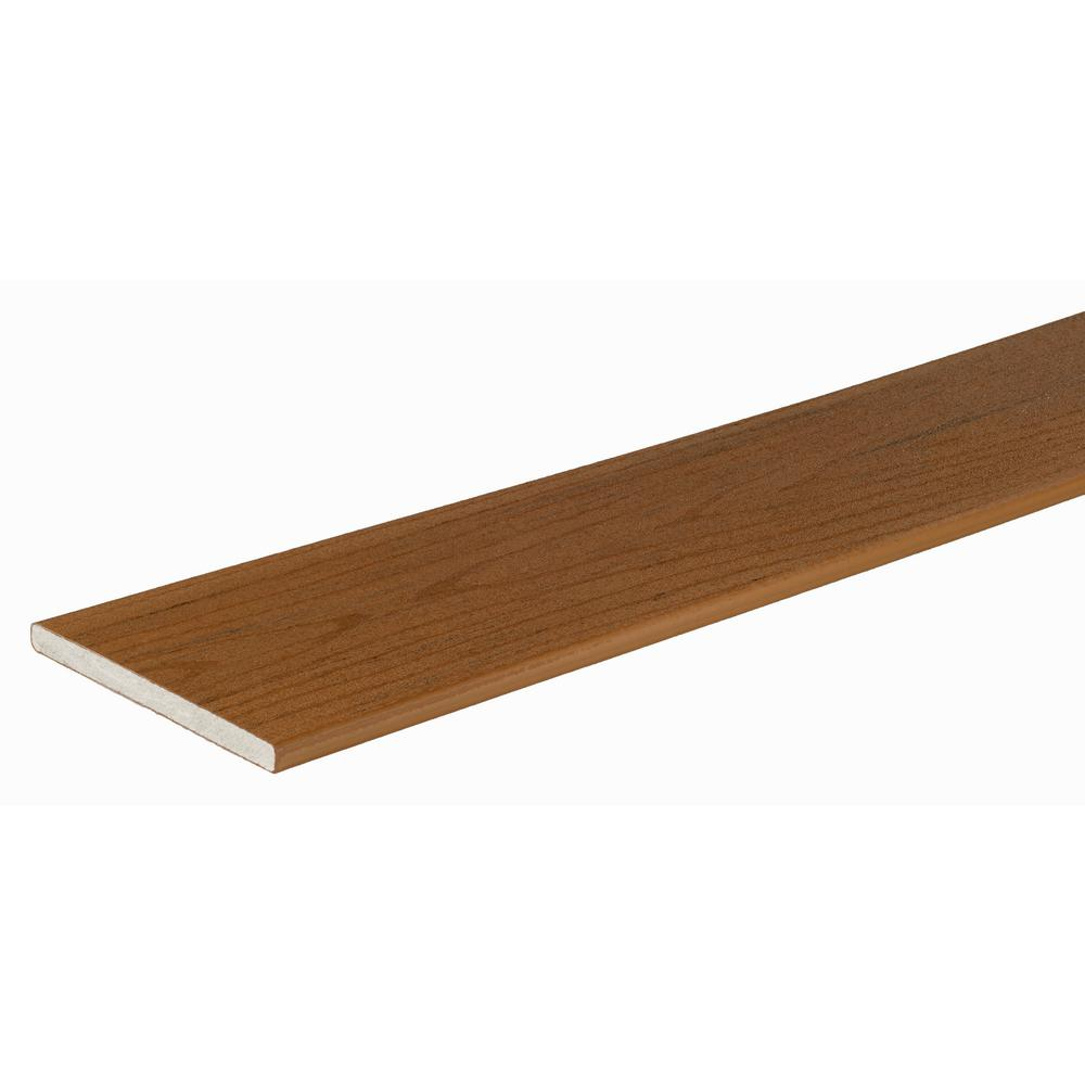 TimberTech PRO Terrain Collection 9/16 in. x 12 in. x 12 ft. Brown Oak Fascia Capped Composite Decking Board