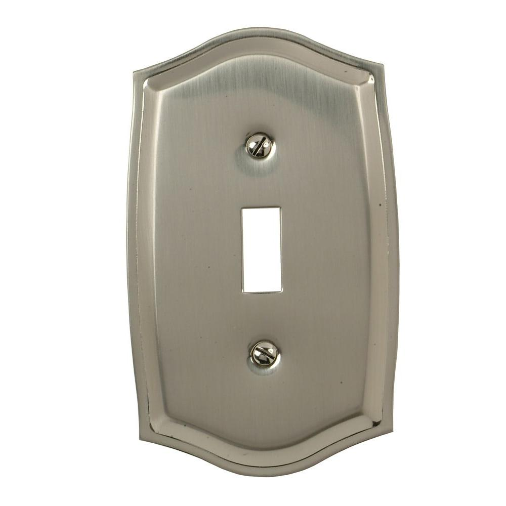 Amerelle Sonoma 1 Toggle Wall Plate - Satin Nickel