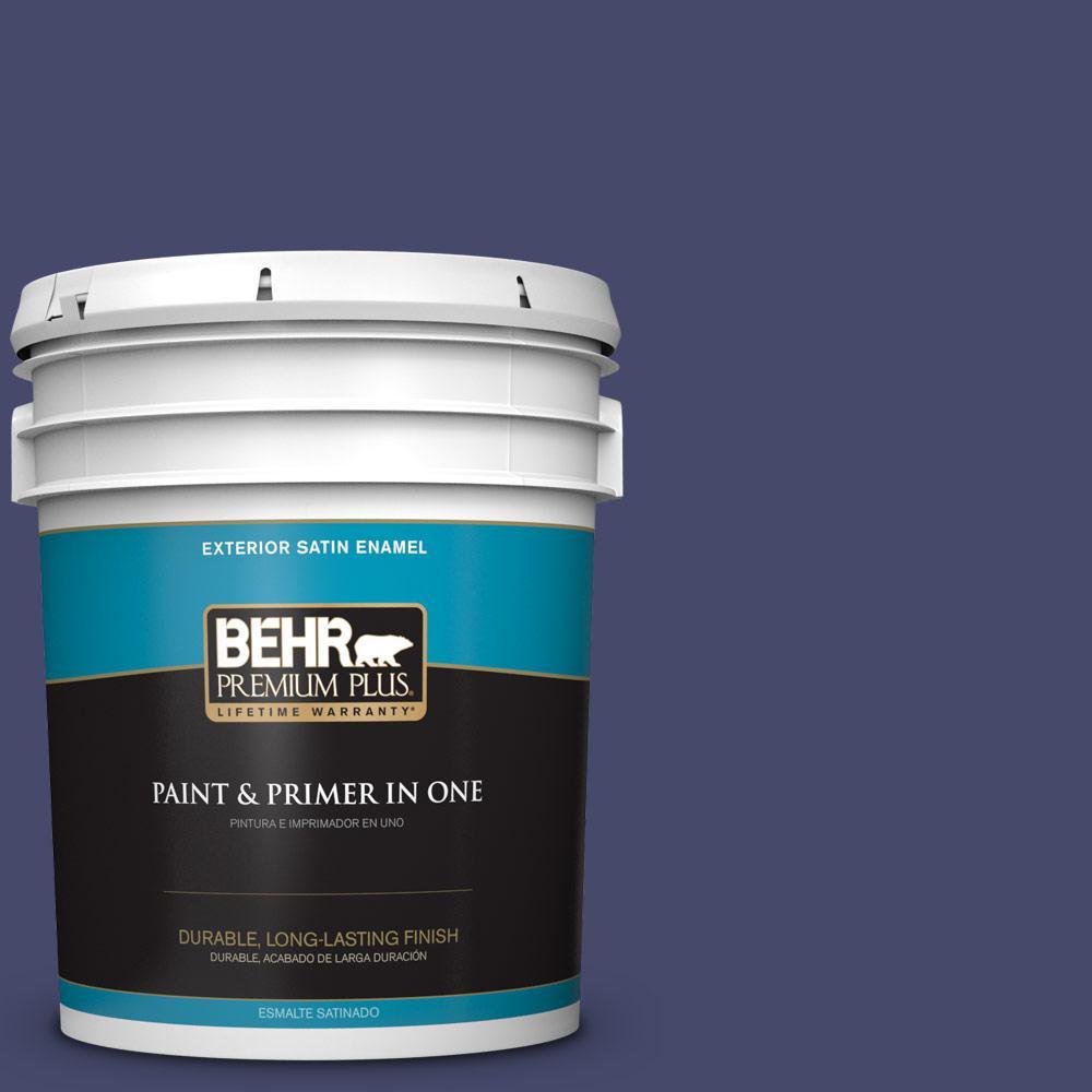 5 gal. #PPU15-01 Nobility Blue Satin Enamel Exterior Paint