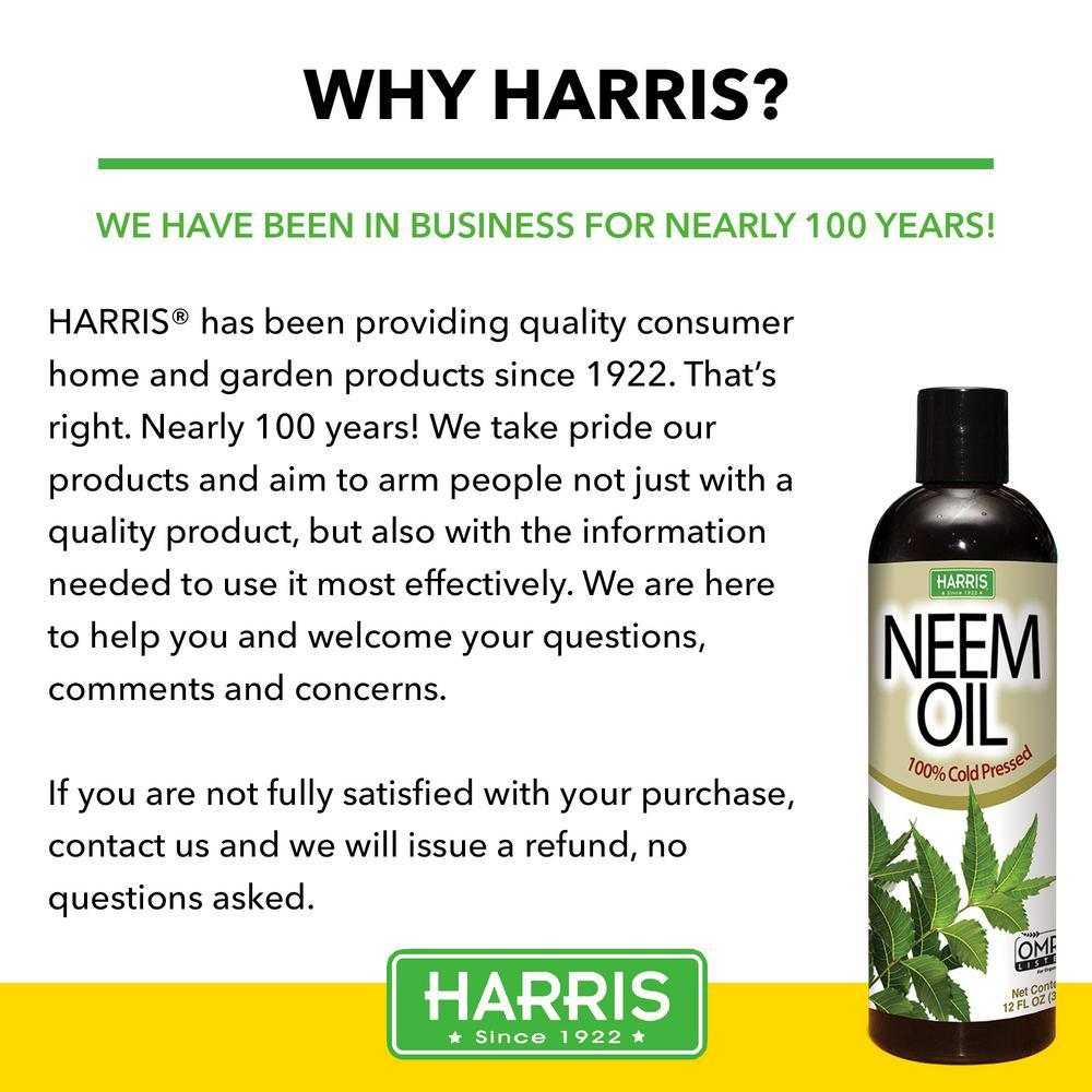 Harris 12 Oz 100 Cold Pressed Unrefined Cosmetic Grade Neem Oil Neem 12 The Home Depot