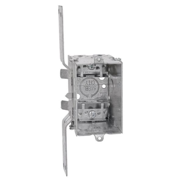 1 Gang 14 cu. in. New Work Pre-Galvanized Metal Gangable Switch Box (Case of 25)