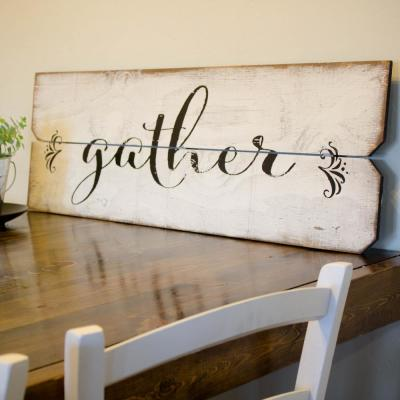 "12 in. x 36 in. ""Gather"" By Boulder Innovations Printed Wall Art"