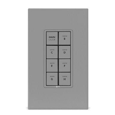 Smarthome KeypadLinc Dimmer - INSTEON 8-Button Scene Control Keypad with Dimmer, Gray-DISCONTINUED