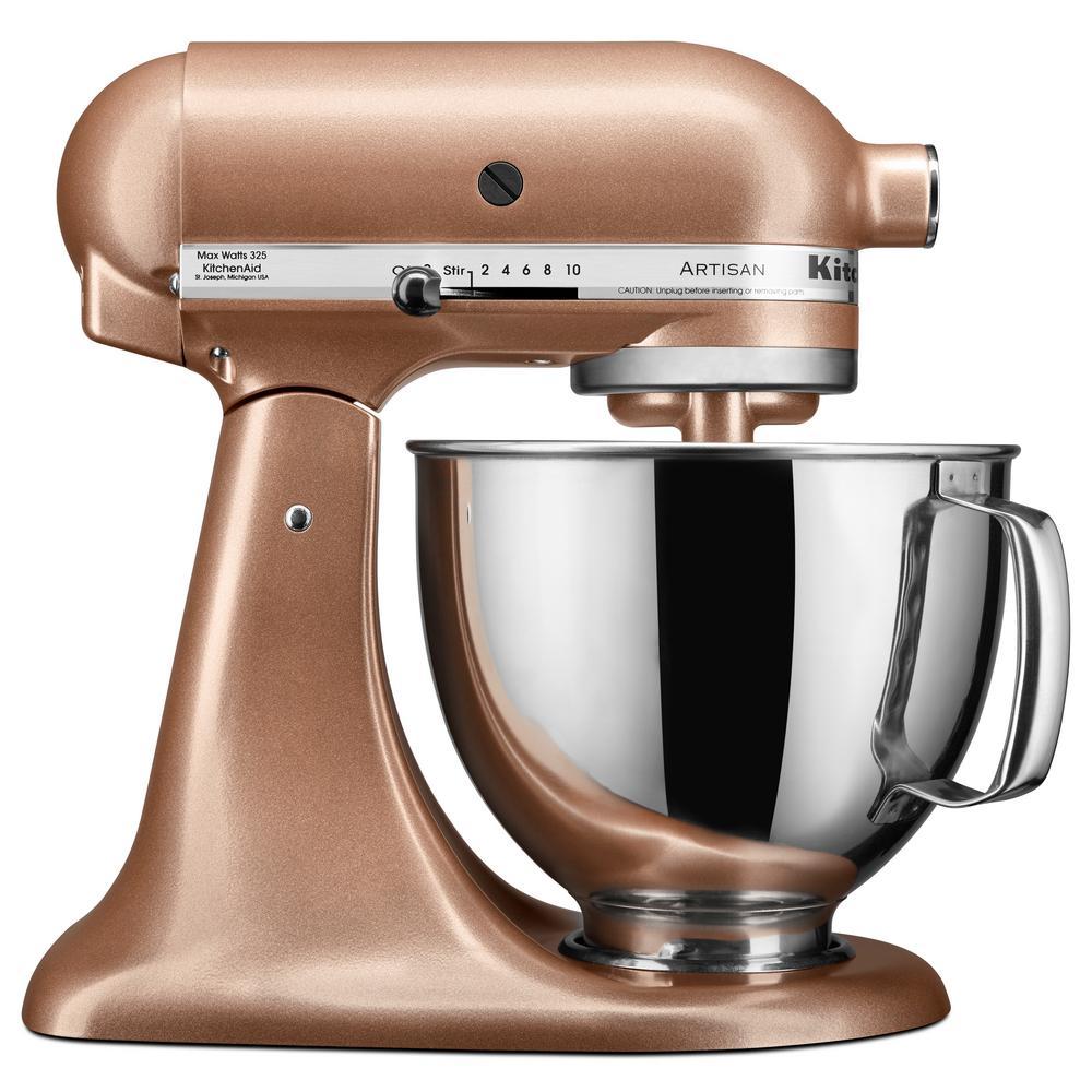 KitchenAid Artisan Series 5 Qt. Tilt-Head Stand Mixer-KSM150PSTZ - The Home Depot
