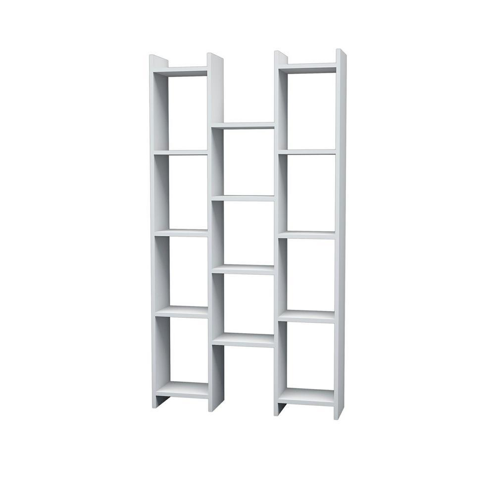 Brice White Modern Bookcase