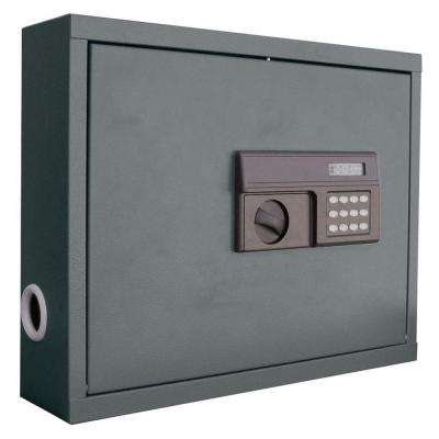 .85 cu. ft. All Steel Wall Mount Laptop Safe with Electronic Lock, Charcoal