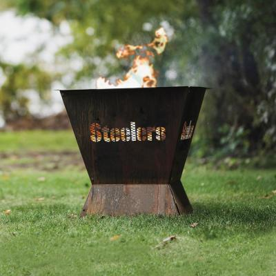Badlands NFL 29.5 in. x 26 in. Square Steel Wood Fire Pit - Pittsburgh Steelers