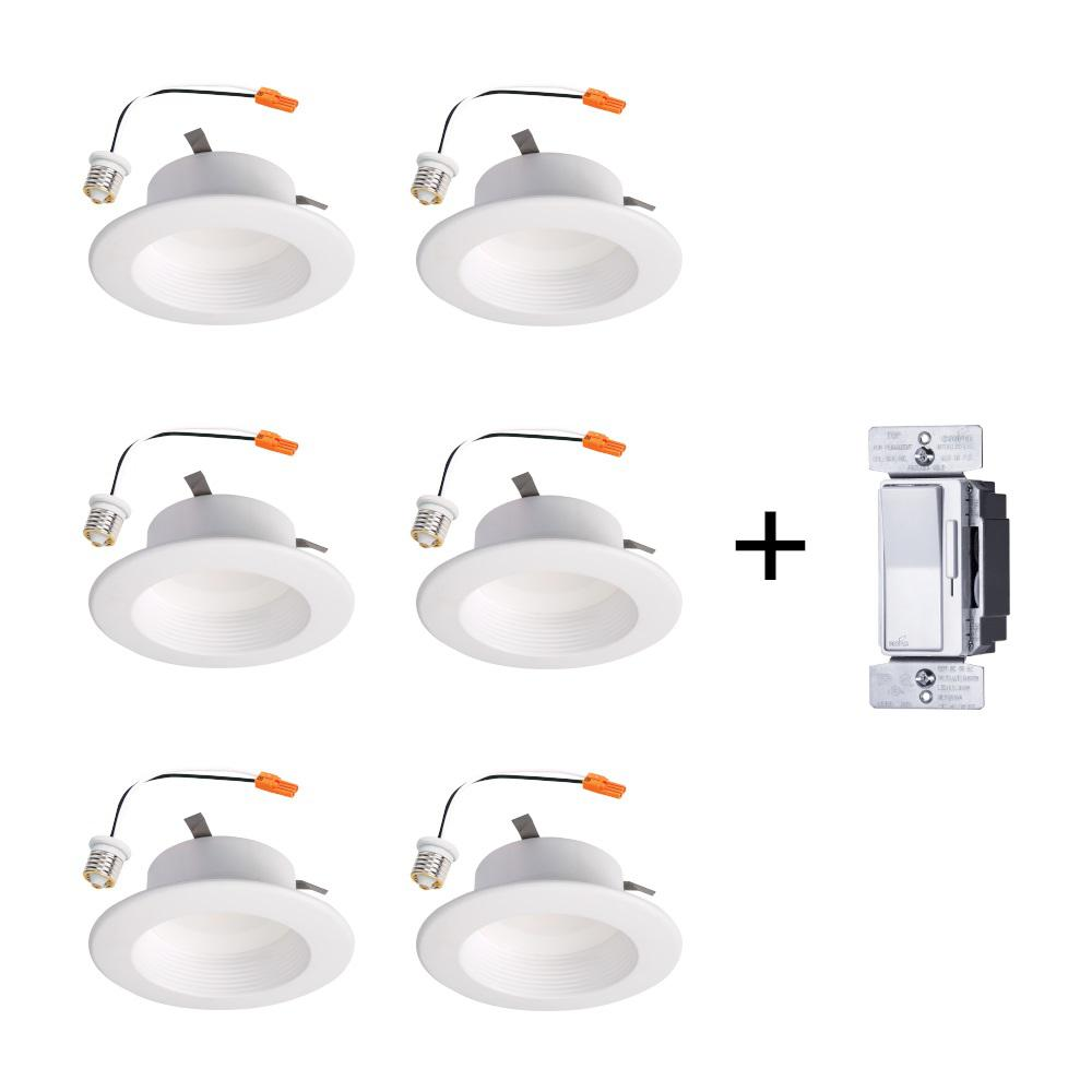 Utilitech 4 In White Integrated Led Remodel Recessed Light: Halo RL 4 In. 3000K Soft White Color Temperature Remodel