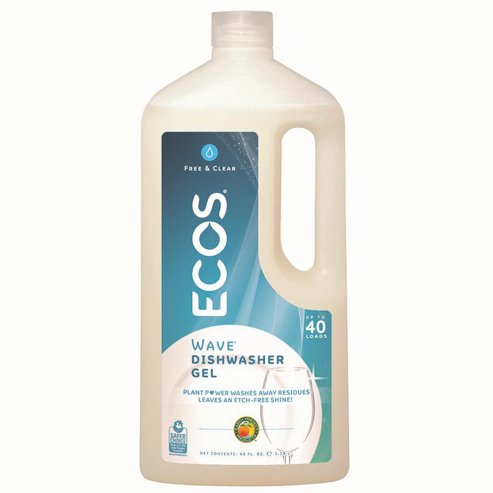 ECOS 40 oz. Squeeze Bottle Free and Clear Wave Gel Dishwasher Detergent