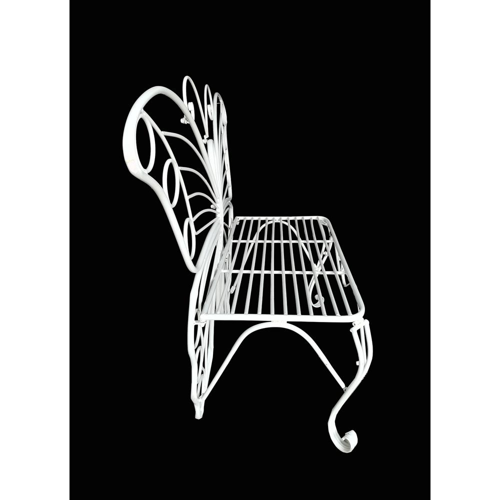 Remarkable Hi Line Gift White Metal Butterfly Garden Bench Caraccident5 Cool Chair Designs And Ideas Caraccident5Info