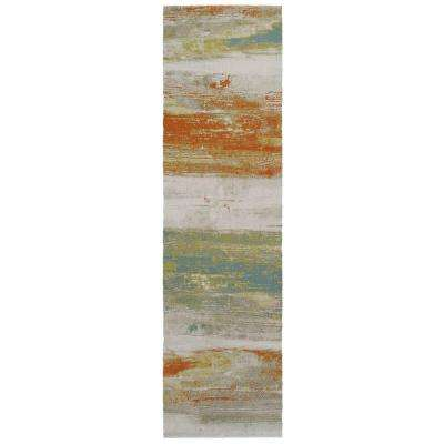Water Color Multi 2 ft. x 7 ft. Runner Rug