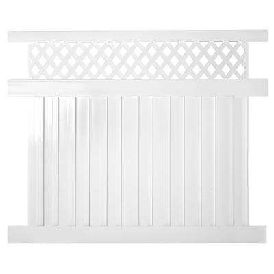 Clearwater 6 ft. x 8 ft. White Vinyl Privacy Fence Panel Kit