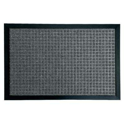 Nottingham Charcoal 16 in. x 24 in. Rubber Backed Carpet Mat