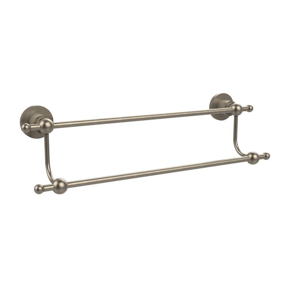 Astor Place Collection 36 in. Double Towel Bar in Antique Pewter