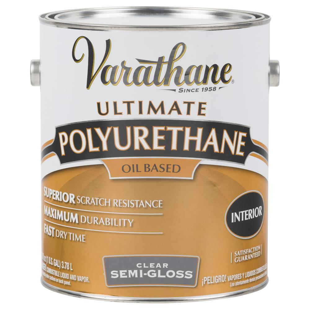 1 gal. Clear Semi-Gloss Oil-Based Interior Polyurethane (2-Pack)